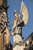 Trebon - Schwarzenberg坟茔-细节,天使的雕象 图库摄影