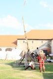 Trebuchet стрельбы Стоковое Фото