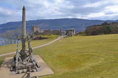 Trebuchet and Castle Stock Images