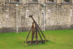 A trebuchet is a type of catapult  that was employed in the Midd Royalty Free Stock Image