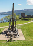 Trebuchet at Urquhart Castle, Scotland Stock Photo