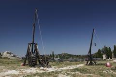 Trebuchets i Les Baux de Provence Arkivfoto