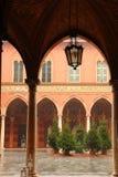 Trecchi宫殿在克雷莫纳,意大利 库存图片