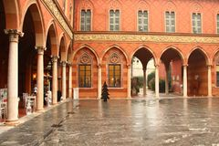 Trecchi Palace In Cremona, Italy. Stock Image