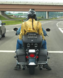 Treccia & motociclo Fotografia Stock Libera da Diritti