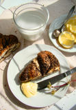 Treccia del pecan del papavero Fotografie Stock