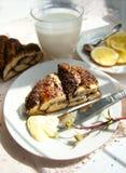 Treccia del pecan del papavero Fotografia Stock Libera da Diritti