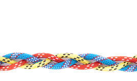 Treccia gialla blu rossa della corda immagini stock libere da diritti