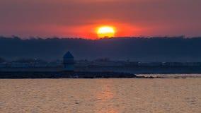 Trecco zatoki karawany park przy świtem zdjęcia royalty free