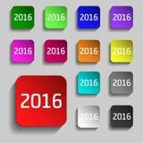 Trece botones coloridos del web para su diseño Vector Imagen de archivo