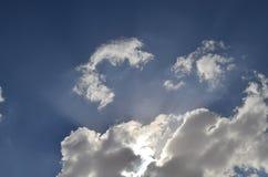 Trechter, licht, verlichting, lumen, wolken stock foto
