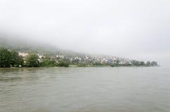 Trechtingshausen. Lies between Koblenz and Bingen right in the upper Rhine Gorge Stock Image