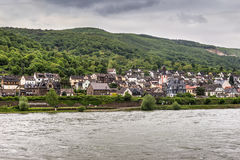 Trechtingshausen village in the Unesco World Heritage area of th Royalty Free Stock Image