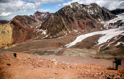 Treck in Aconcagua Royalty Free Stock Photos