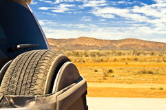 Treck in the outback. SUV trek in the Australian desert Stock Images