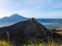 Trecking Batur держателя стоковая фотография rf