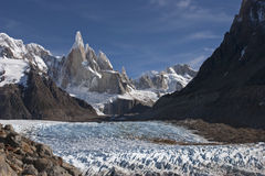 Trecking to Cerro  Torre, Patagonia, Argentina Stock Photo