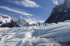 Trecking to Cerro Torre, Patagonia, Argentina Royalty Free Stock Images