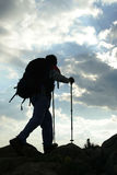 Trecking under wonderful sky. A photo showing beauty of extreme sports-trecking under wonderful sky Stock Images