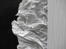 Tredelat konstnärligt abstrakt begrepp i svart, vit och grånar med att kontrastera buse och slätar texturer Arkivfoton