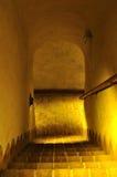 Treden aan de oude kerker. Stock Afbeeldingen