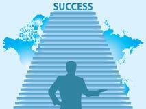 Treden aan het succes Stock Afbeeldingen