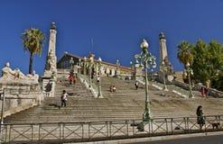 Treden aan Musee des Beaux Arts, Palais Lonchamp, Marseille Royalty-vrije Stock Fotografie