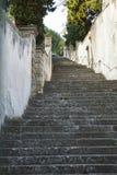 Treden bij Villa Duodo, Monselice, Italië royalty-vrije stock fotografie