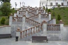 Treden dichtbij kathedraal svyato-Uspensky Stock Foto