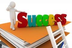 Treden die tot succes leiden Stock Afbeeldingen