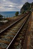 Treden en de spoorweg stock foto