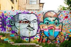 Treden en portretten in Valparaiso royalty-vrije stock foto