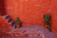 Treden in het klooster van Arequipa Royalty-vrije Stock Foto's
