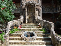 Treden in kasteel in Ravadinovo, Bulgarije Stock Afbeelding