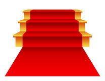 Treden met Rood Tapijt Royalty-vrije Stock Foto