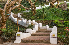 Treden om Phou-Si op te zetten - Luang Prabang, Laos Royalty-vrije Stock Foto