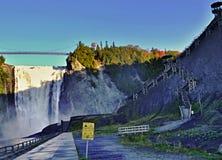 Treden omhoog bij de watervallen van Montmorency - Quebec - Canada Royalty-vrije Stock Fotografie