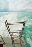 Treden onderaan schip Stock Fotografie