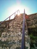 Treden op Blackingstone-Rots Stock Afbeeldingen
