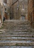 Treden in Pitigliano royalty-vrije stock foto