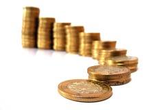 Treden van muntstukken Stock Afbeelding
