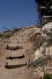 Tredenberg dichtbij Jeruzalem Stock Foto