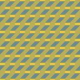 Tredestap gevestigde rechthoeken en diagonaal lijnen naadloos geklets Stock Fotografie