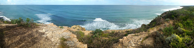 Tredicesimo panorama di bluff della spiaggia Fotografia Stock Libera da Diritti