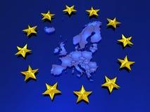 Tredimensionell översikt av Europa. Royaltyfri Fotografi