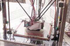 Tredimensionell printingmaskin Arkivfoto