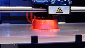 Tredimensionell skrivare för plast- 3d Fotografering för Bildbyråer