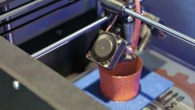 Tredimensionell skrivare för plast- 3d stock video