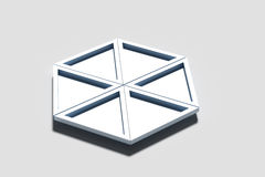 Tredimensionella geometriska trianglar Arkivbilder