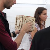 tredimensionellt träpussel 3D Arkivfoton